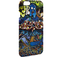 Чехол-крышка i-Paint GRAFFITI для Apple iPhone 6/6S, пластик, узор